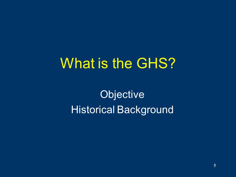 Objective Historical Background
