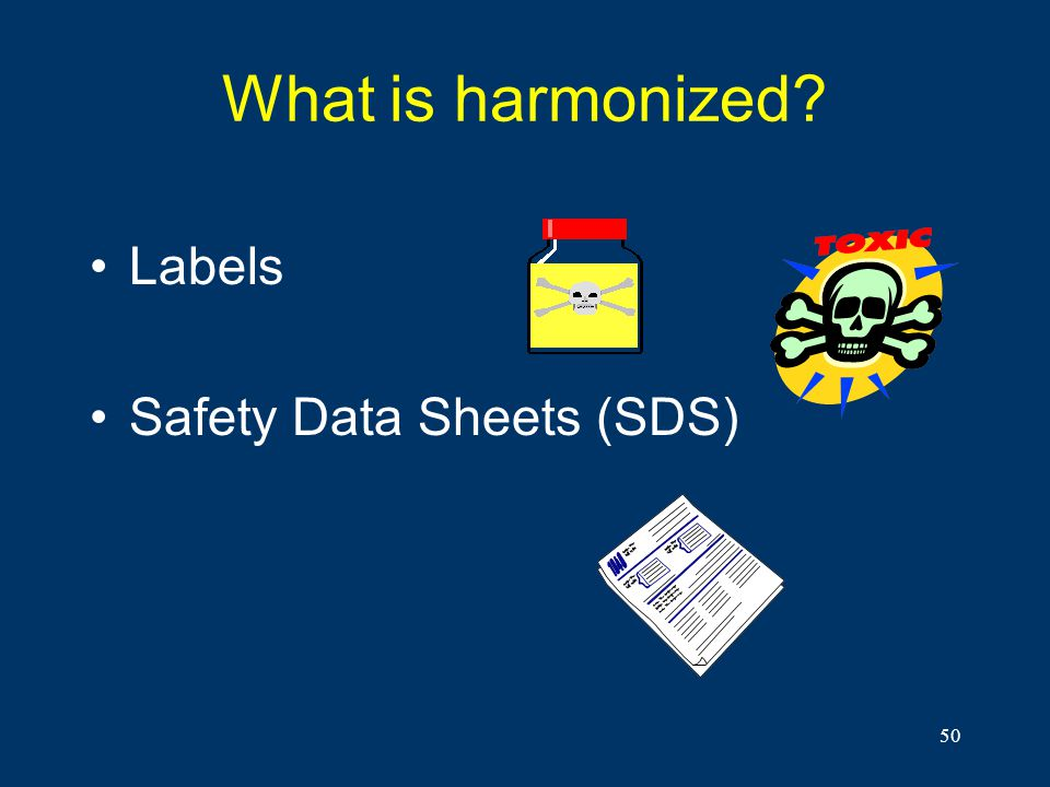What is harmonized Labels Safety Data Sheets (SDS)