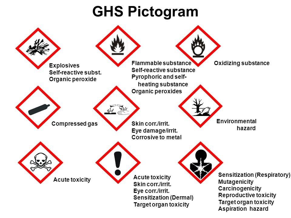GHS Pictogram Flammable substance Self-reactive substance