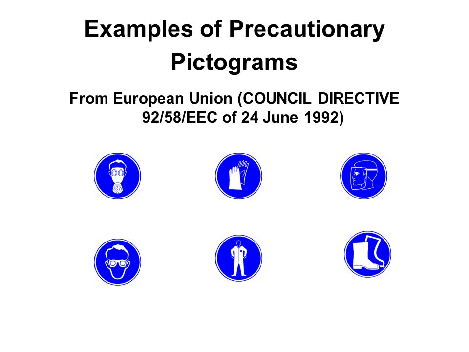 Examples of Precautionary Pictograms