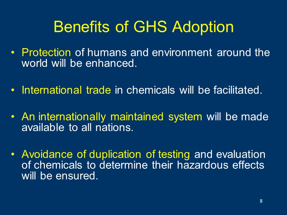 Benefits of GHS Adoption