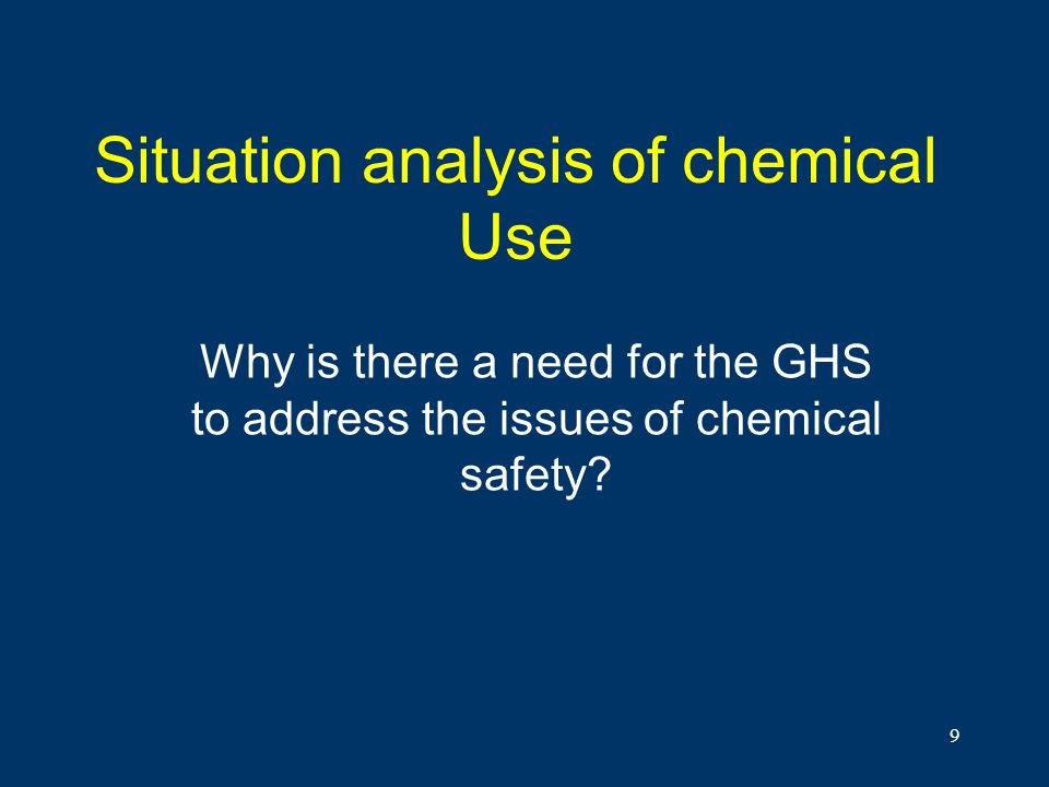 Situation analysis of chemical Use