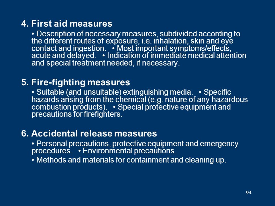 5. Fire-fighting measures