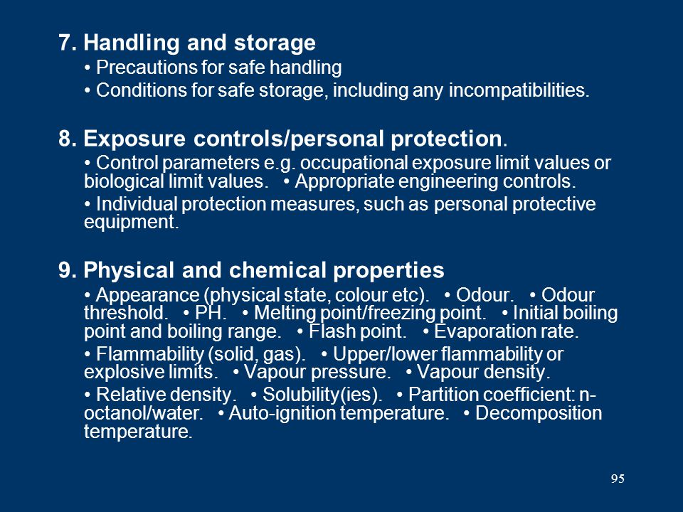 8. Exposure controls/personal protection.