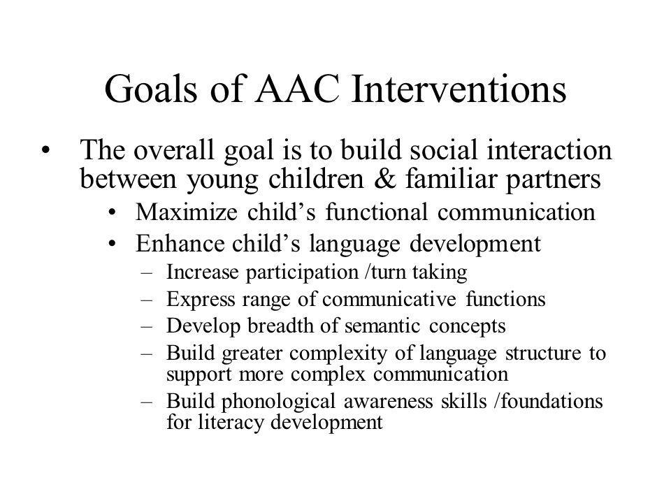 Goals of AAC Interventions