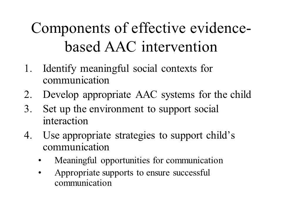 Components of effective evidence-based AAC intervention