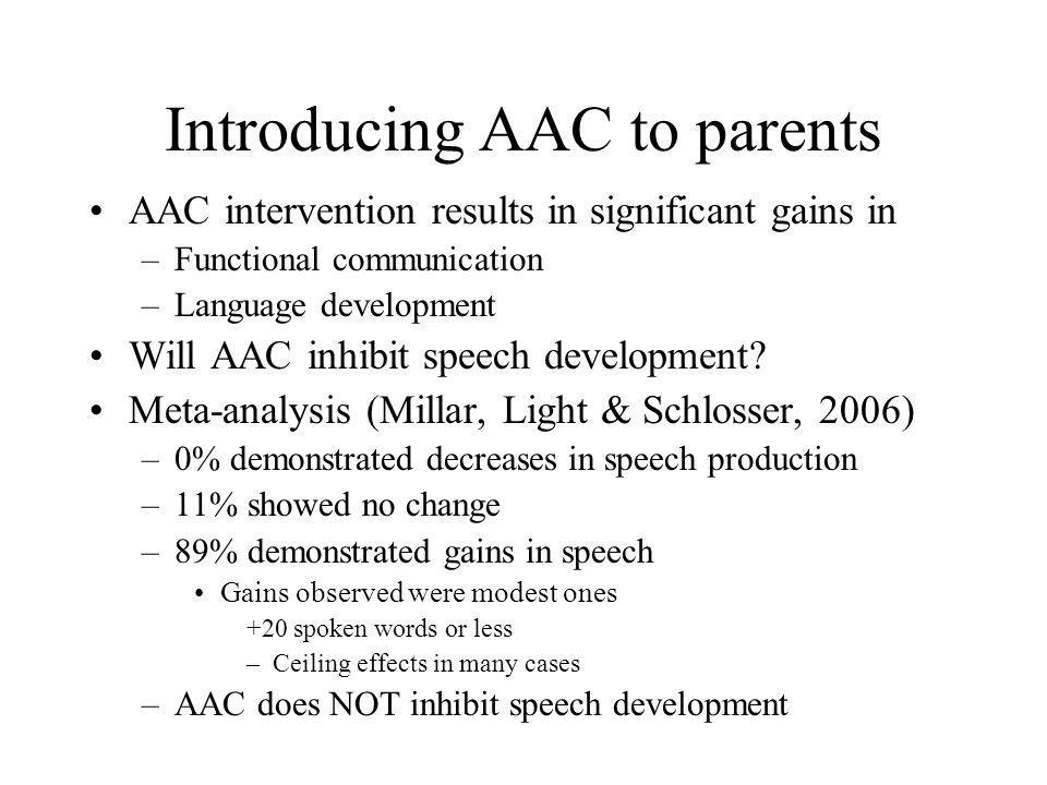 Introducing AAC to parents