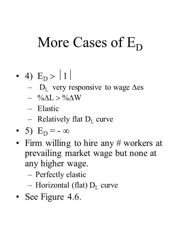 More Cases of ED 4) ED  1 5) ED = - 