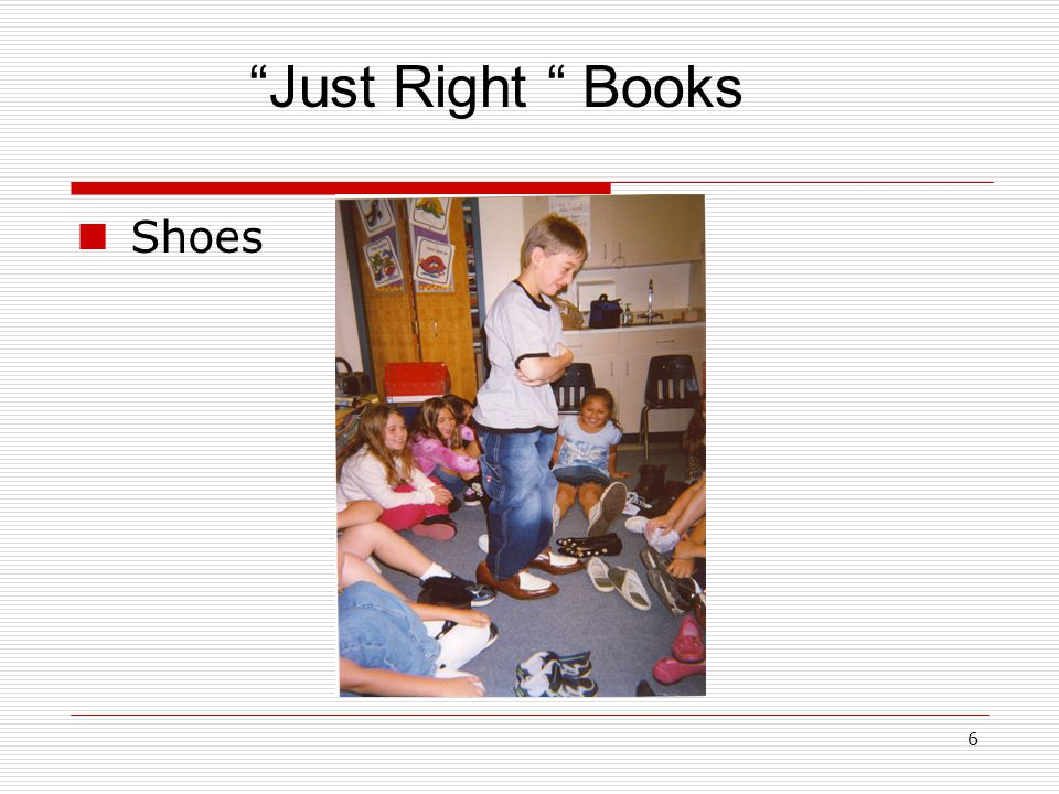 Just Right Books Shoes