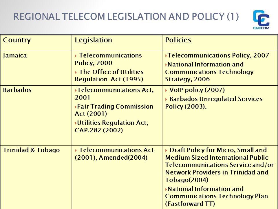 REGIONAL TELECOM LEGISLATION AND POLICY (1)