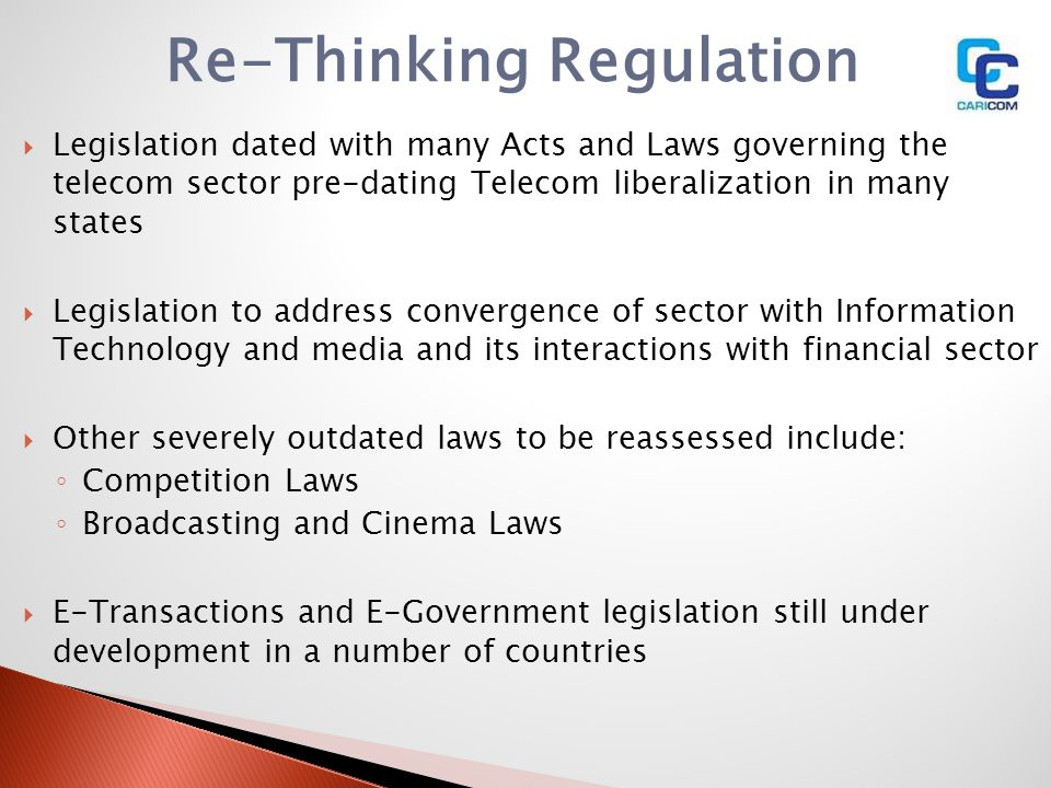 Re-Thinking Regulation