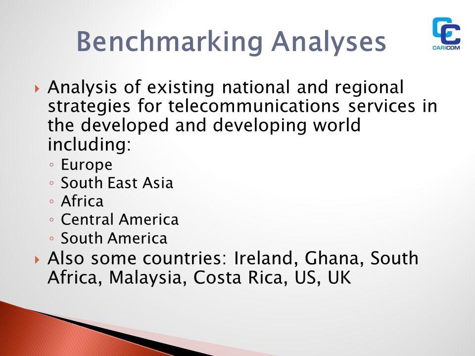 Benchmarking Analyses