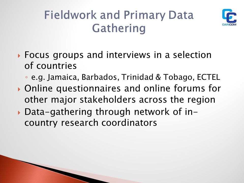 Fieldwork and Primary Data Gathering