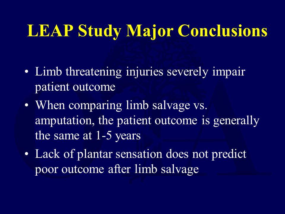 LEAP Study Major Conclusions
