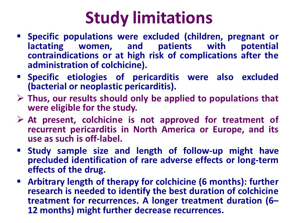 Study limitations