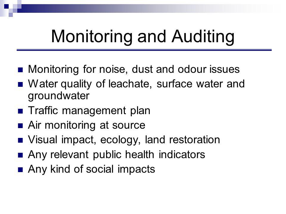 Monitoring and Auditing