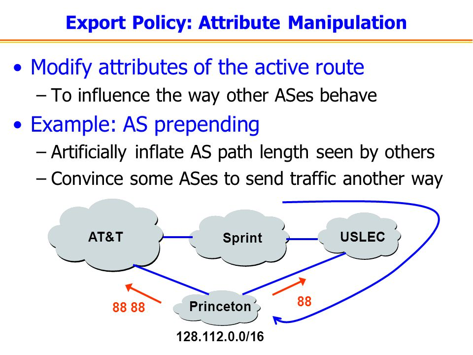 Export Policy: Attribute Manipulation