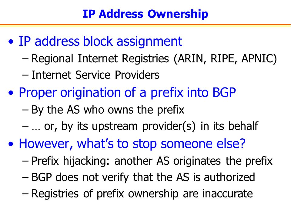 IP address block assignment