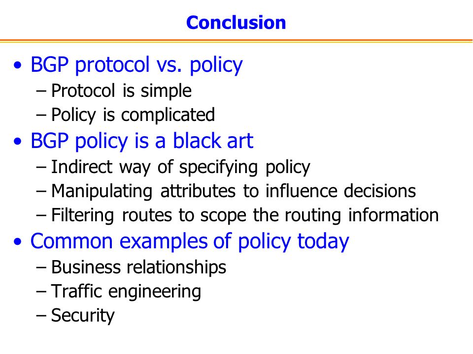 BGP policy is a black art