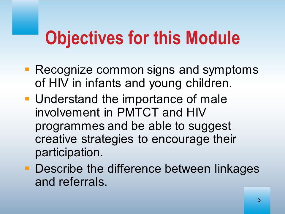 Objectives for this Module
