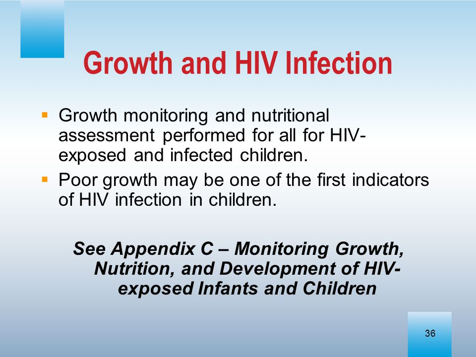 Growth and HIV Infection