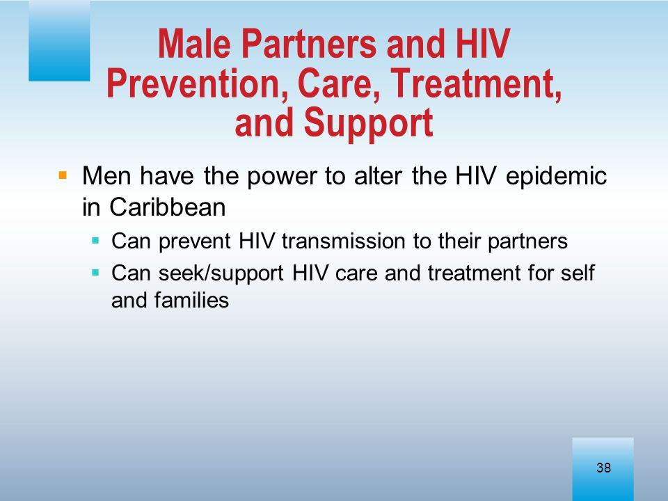Male Partners and HIV Prevention, Care, Treatment, and Support