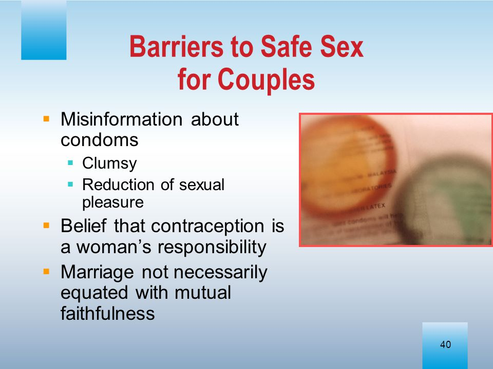 Barriers to Safe Sex for Couples