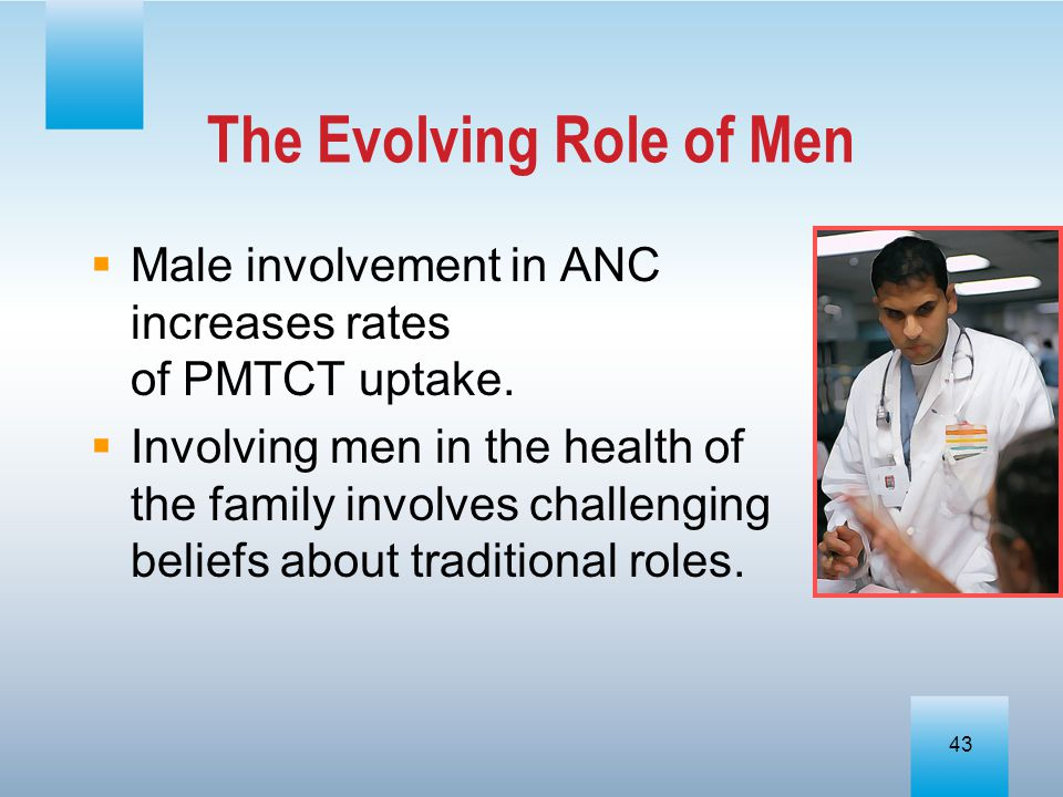 The Evolving Role of Men
