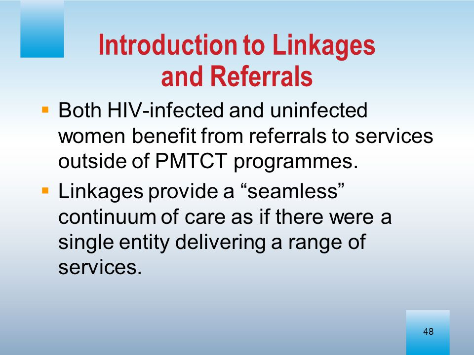 Introduction to Linkages and Referrals