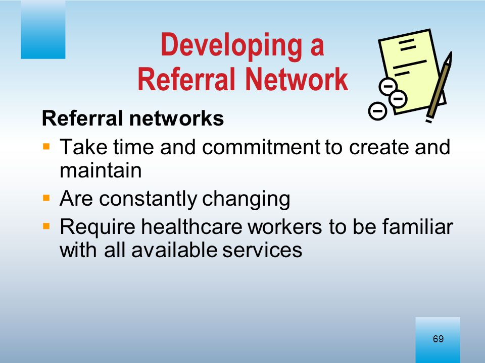 Developing a Referral Network