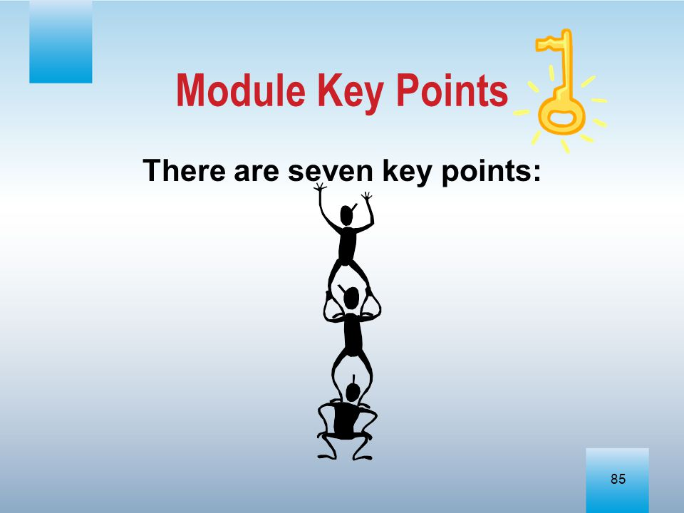 There are seven key points: