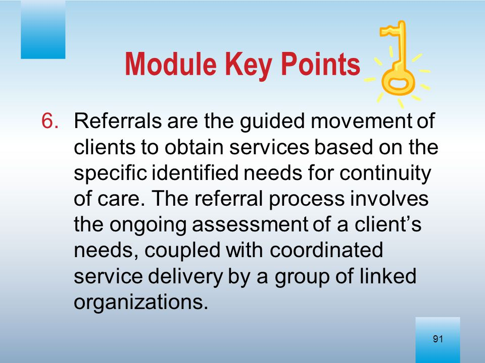 Module Key Points