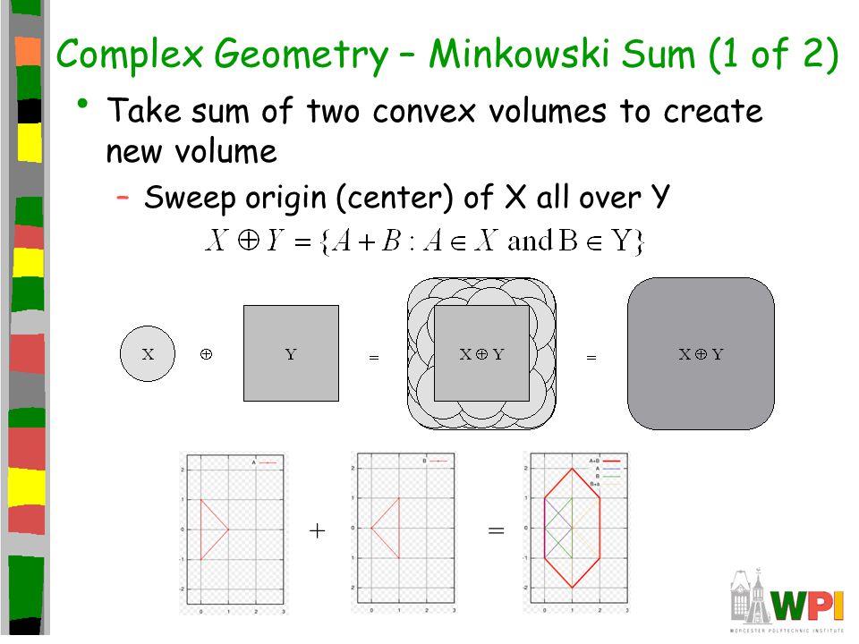 Complex Geometry – Minkowski Sum (1 of 2)