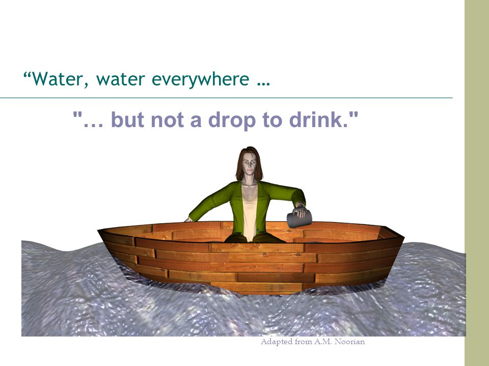 Water, water everywhere …