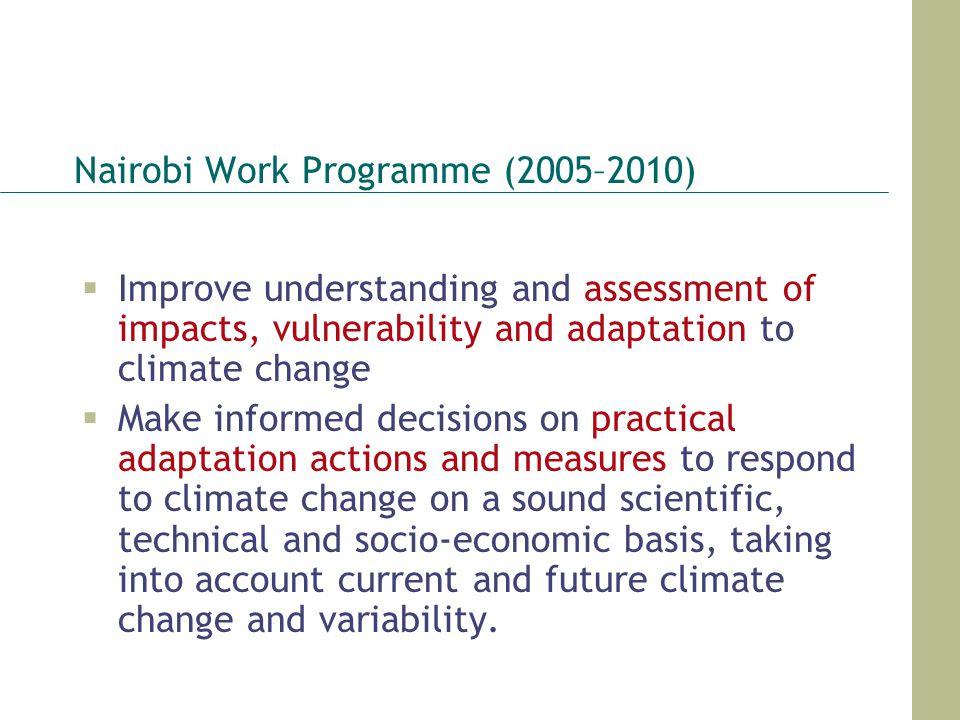 Nairobi Work Programme (2005–2010)