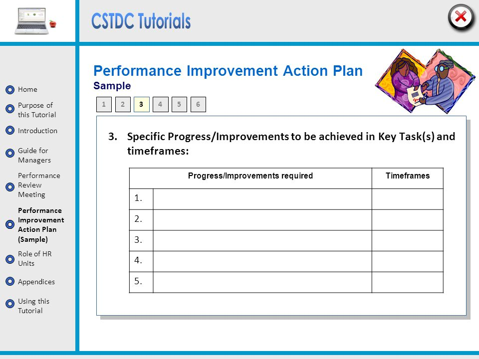 Performance Improvement Action Plan Sample