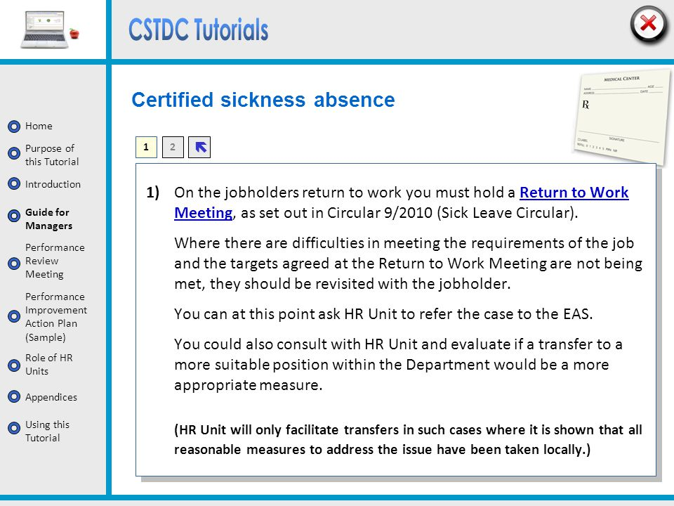 Certified sickness absence