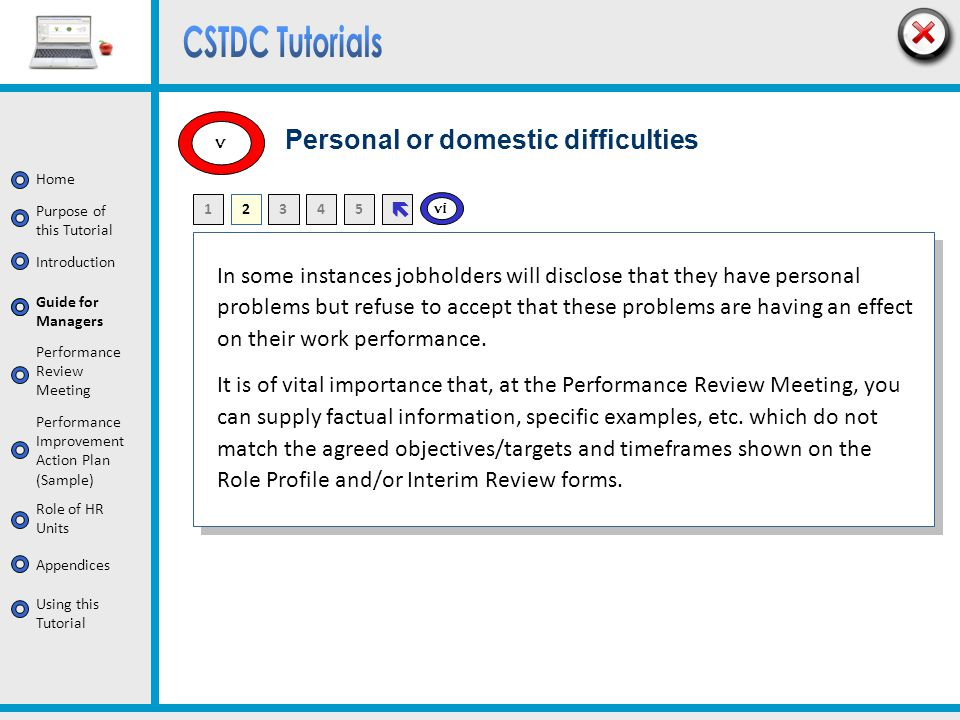 Personal or domestic difficulties