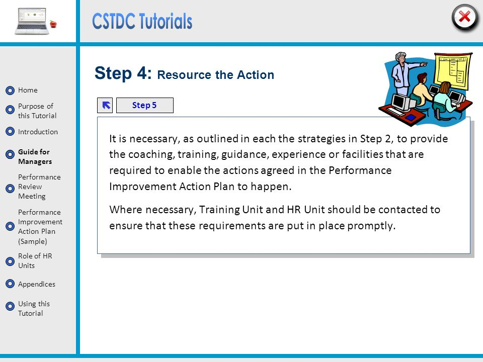 Step 4: Resource the Action