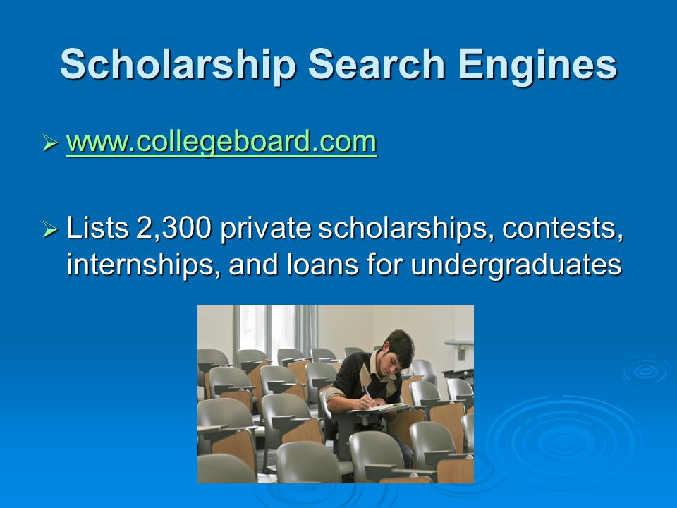 Scholarship Search Engines