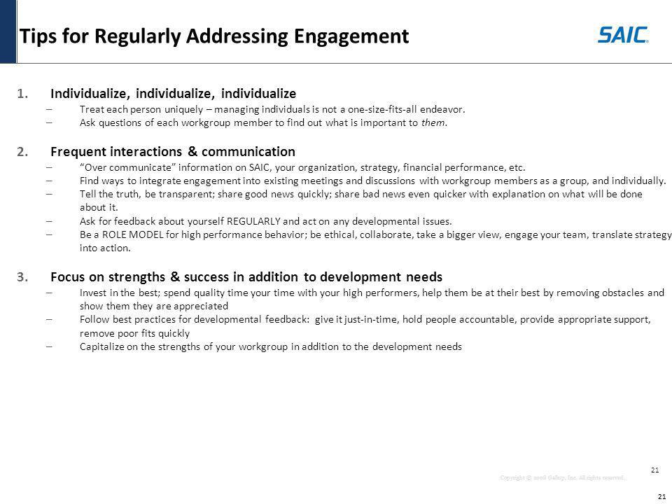 Tips for Regularly Addressing Engagement