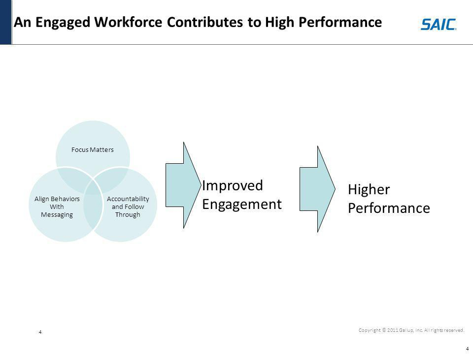 An Engaged Workforce Contributes to High Performance