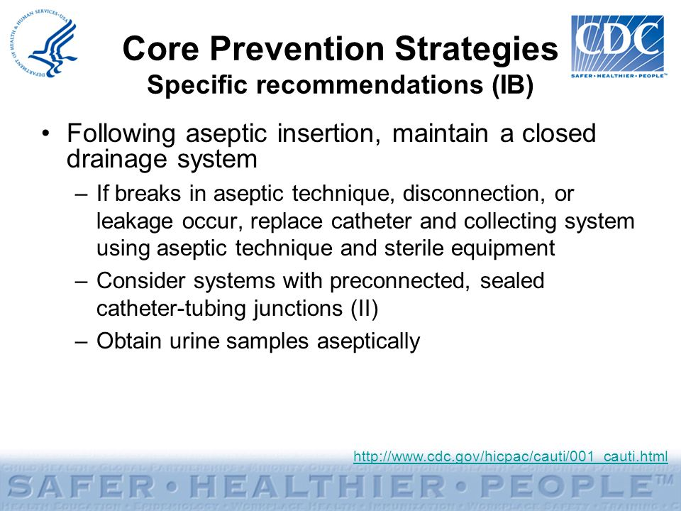 Core Prevention Strategies Specific recommendations (IB)