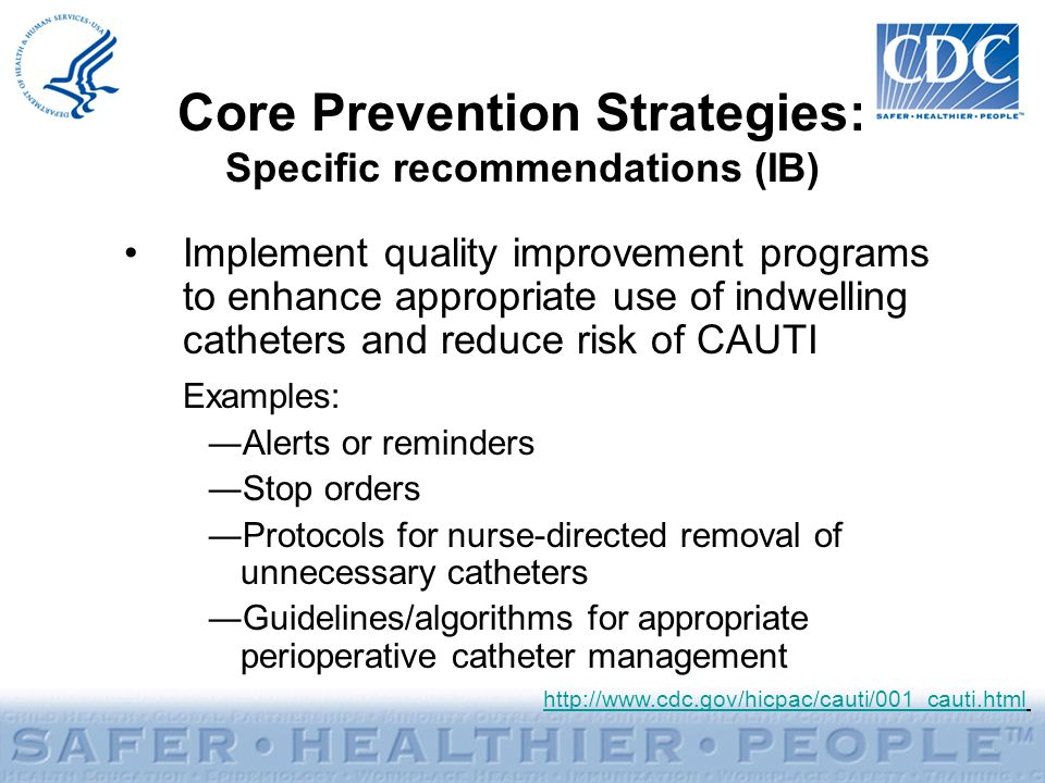 Core Prevention Strategies: Specific recommendations (IB)