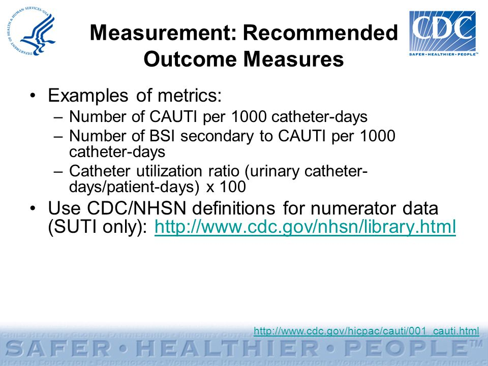 Measurement: Recommended Outcome Measures