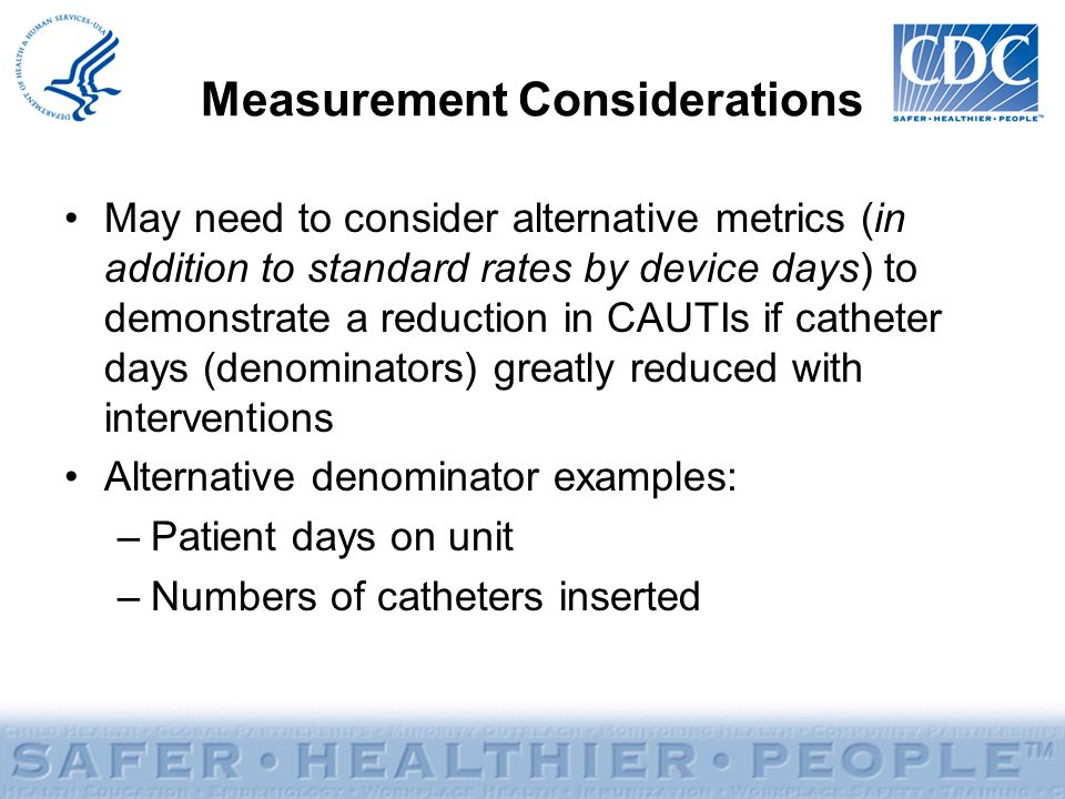 Measurement Considerations