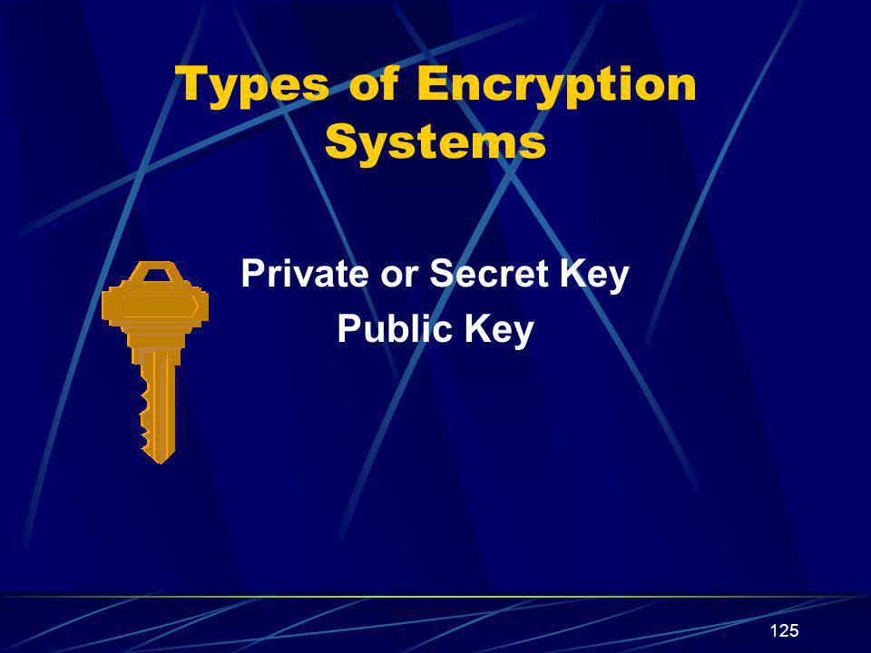 Types of Encryption Systems