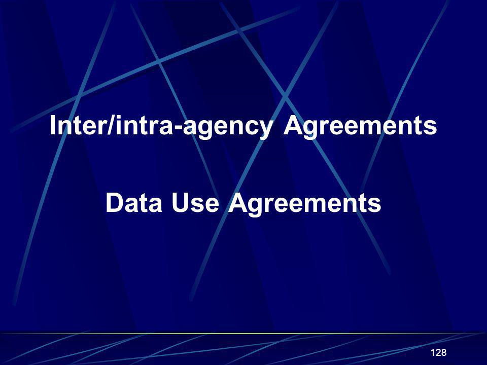 Inter/intra-agency Agreements