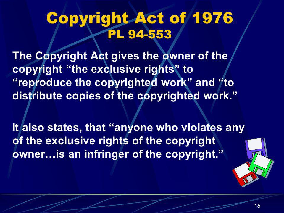 Copyright Act of 1976 PL 94-553