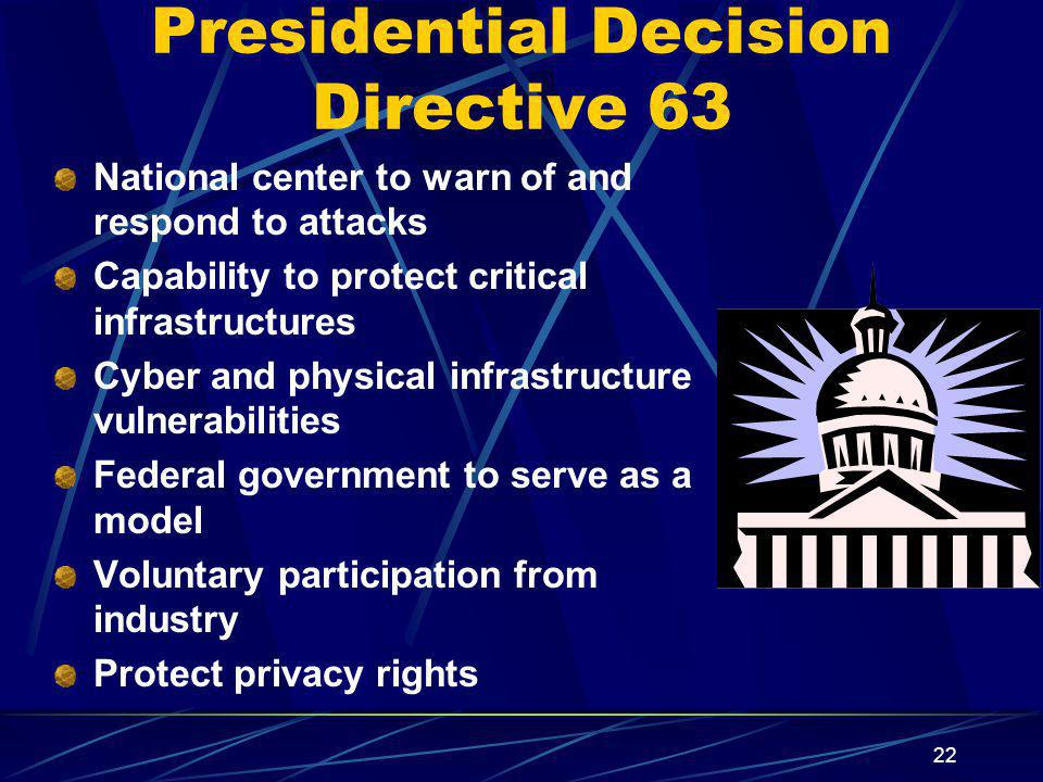 Presidential Decision Directive 63